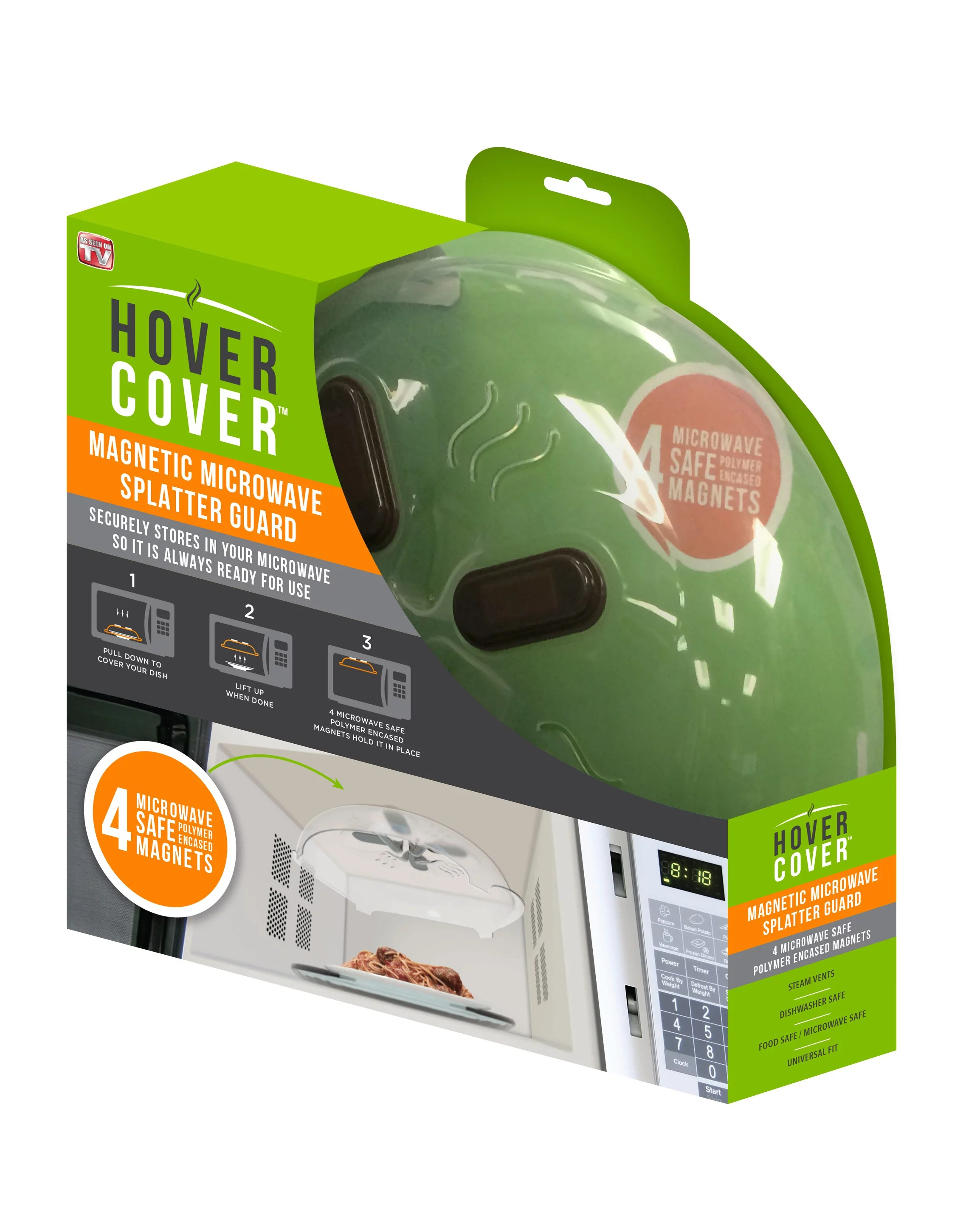 hover cover microwave splatter guard as seen on tv walmart com