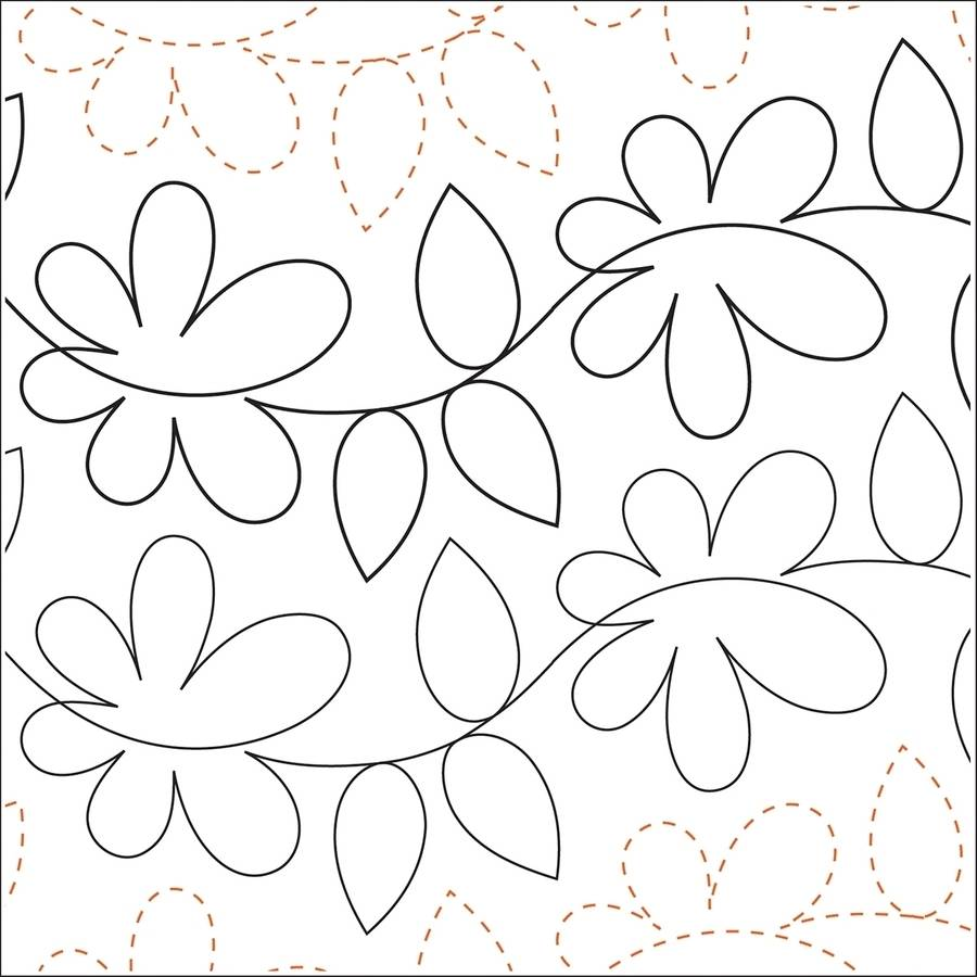 Quilting Creations Printed Tear Away Quilting Paper, Daisy