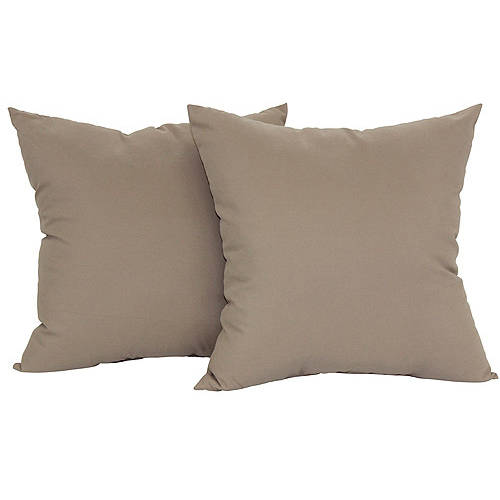 Mainstays Microfiber Twill Pillow, Set Of 2