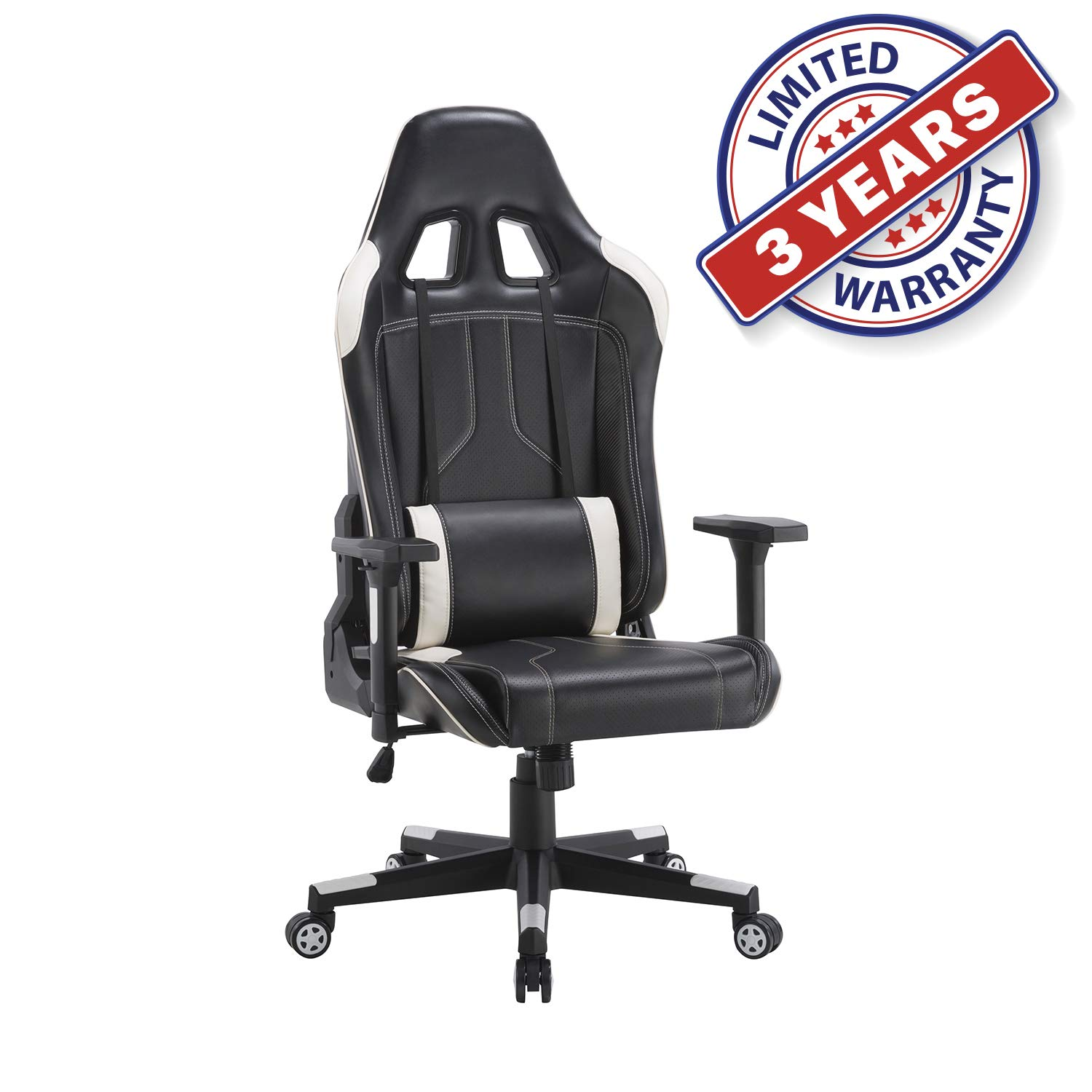 Ergonomic Racing Office Chair Swivel Style With Adjustable