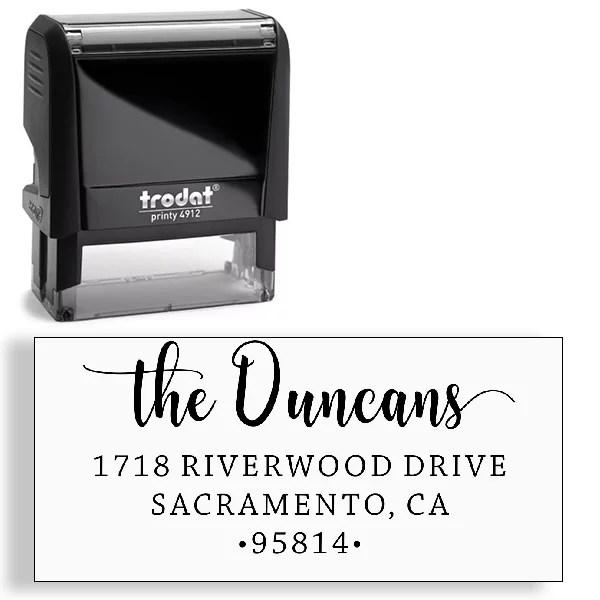 custom stamp address stamp