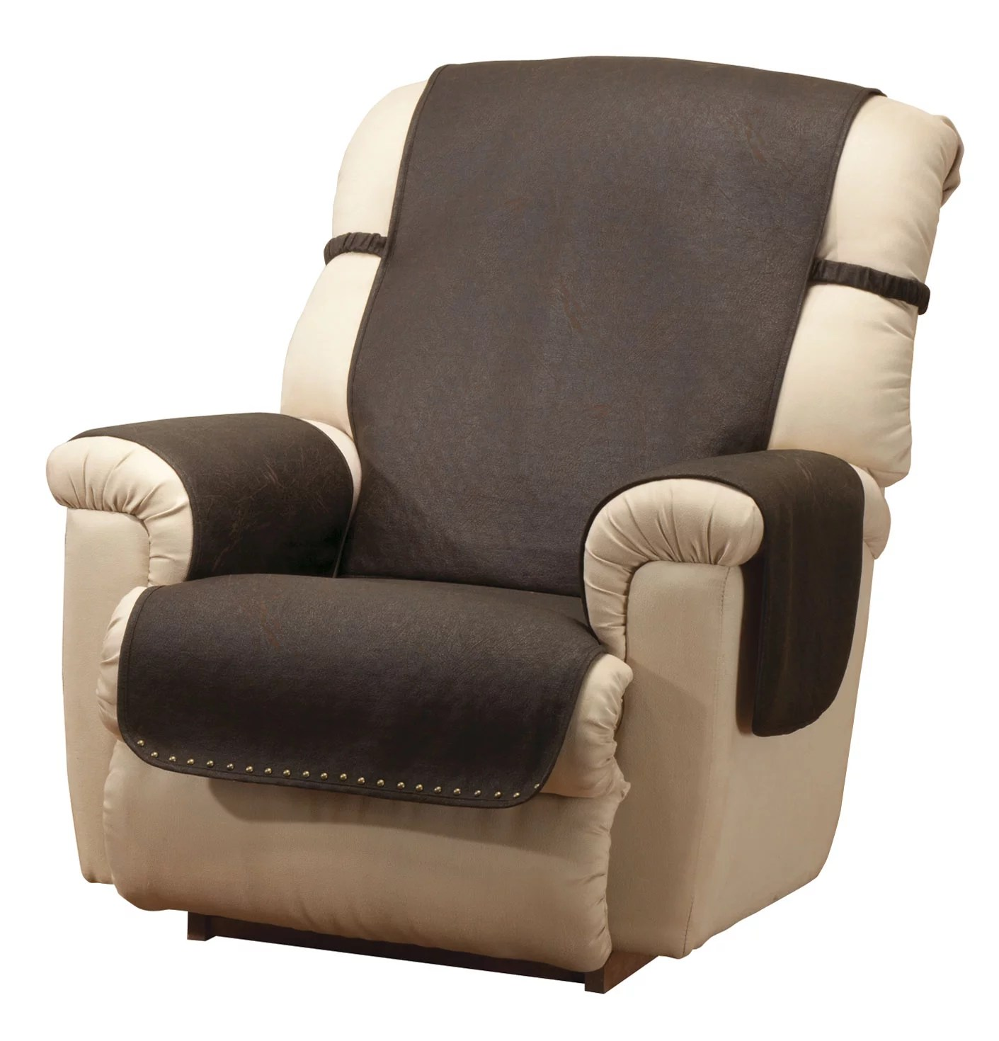 party chair covers walmart silver metal bar chairs leather look recliner cover - walmart.com