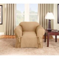 Sure Fit Logan Sofa Slipcover No Sew Cushion Covers Chair Walmart Com