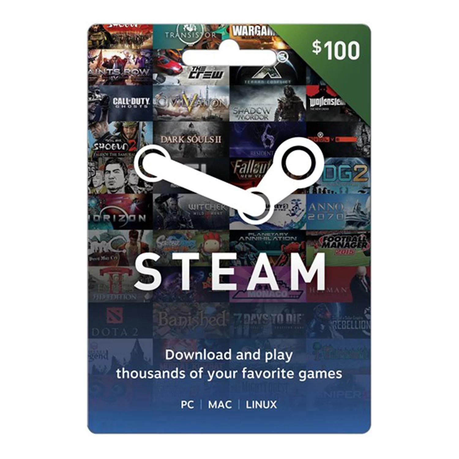 Steam 0 Giftcard, Valve [Physically Shipped Card]