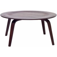 Modway Plywood Durable Round Coffee Table, Multiple Colors ...