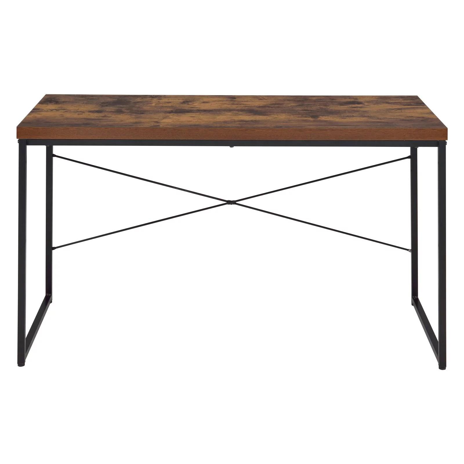 acme bob desk weathered oak walmart com
