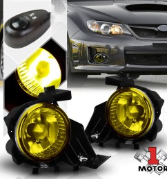 yellow fog light bumper lamp w switch harness bezel for 08 11 subaru impreza wrx 09 10 walmart com [ 1000 x 1000 Pixel ]