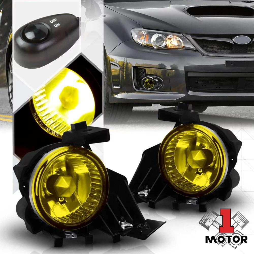 hight resolution of yellow fog light bumper lamp w switch harness bezel for 08 11 subaru impreza wrx 09 10 walmart com