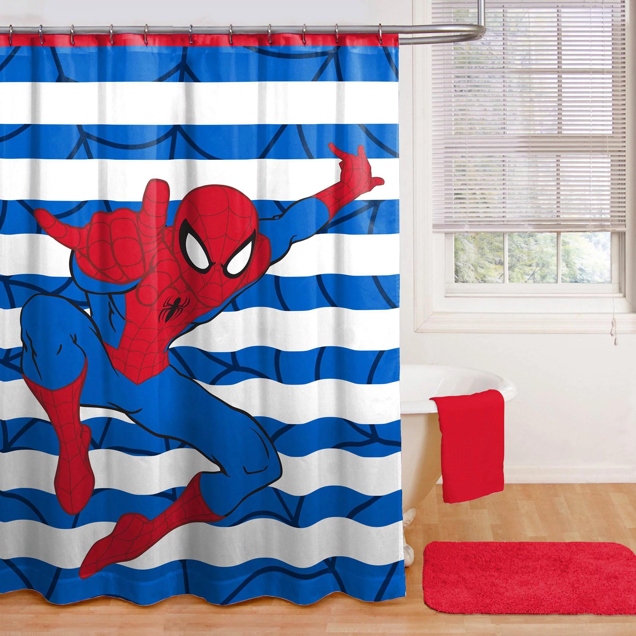 spiderman fabric shower curtain 1 each walmart com