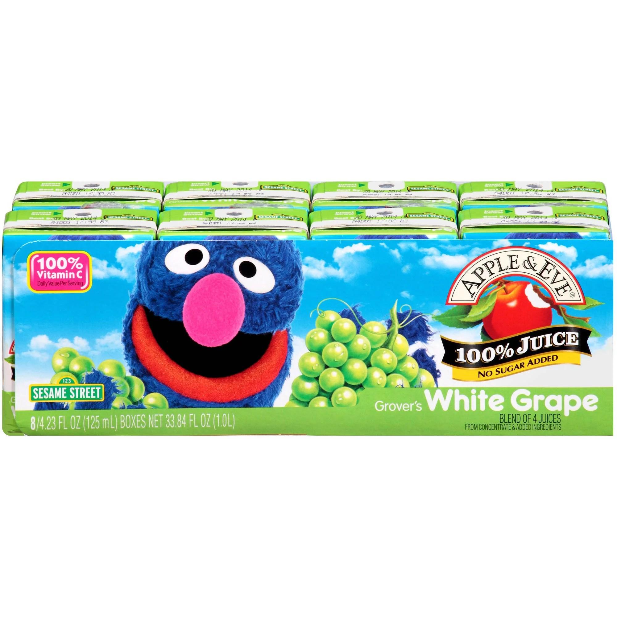 Apple Eve Sesame Street Grover39s White Grape Juice 423