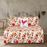 Twin Quilt Sunflower Reversible Ruffle Bedspread Bedding Set Floral Flower Yellow Orange White Walmart Com Walmart Com