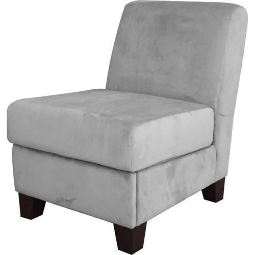 grey velvet slipper chair humanscale office uk nora walmart com