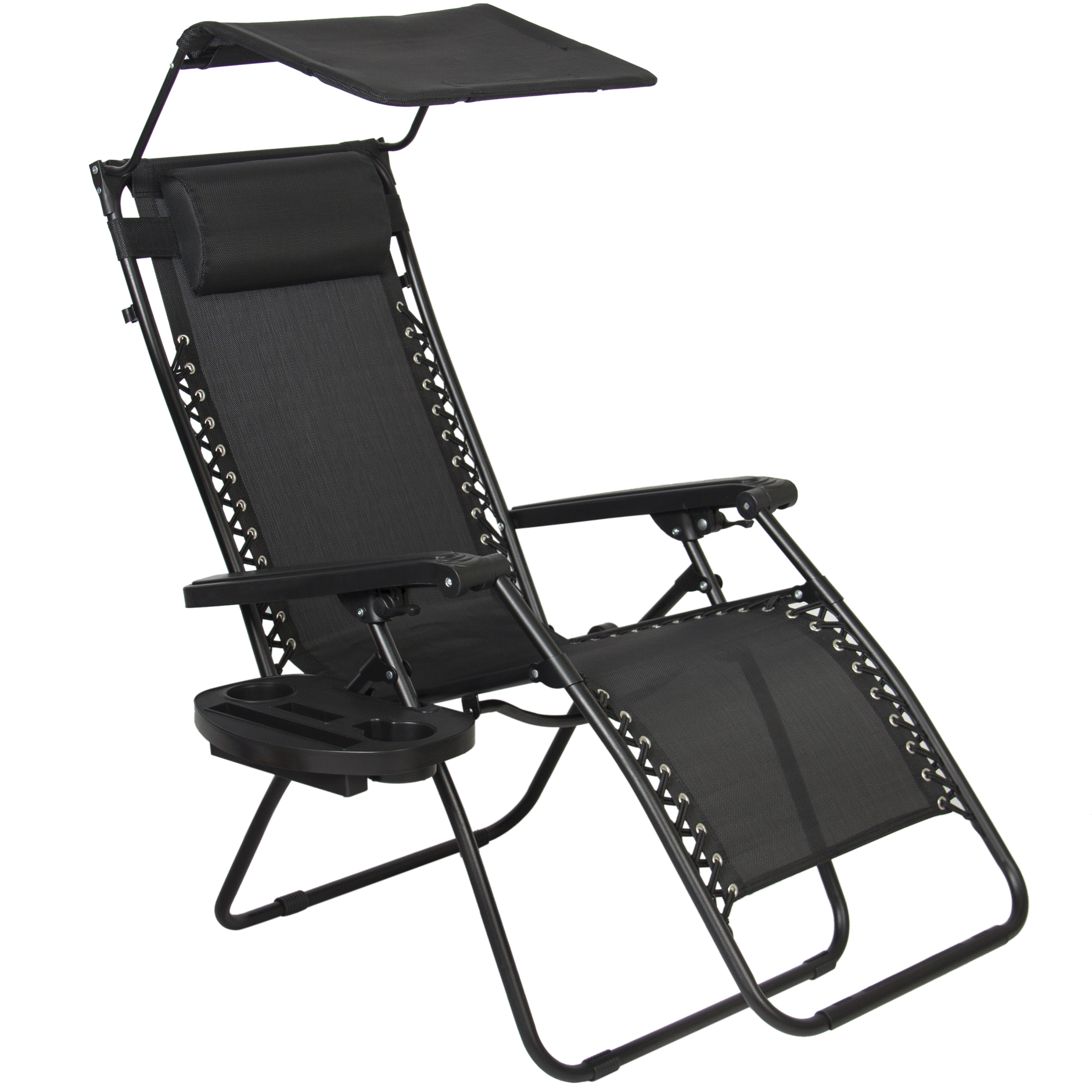 Camping Chair With Canopy Pro Comfort High Back Shade Folding Chair Tan Black