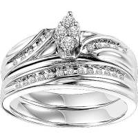 Forever Bride 1/4 Carat T.W. Diamond Sterling Silver ...