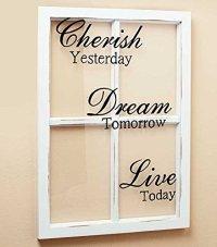 CHERISH DREAM LIVE White Wooden Window Pane Frame ...