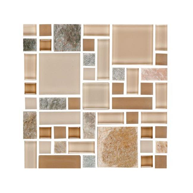 national pool tile fs beige 1 011 sq ft fusion mosaic glass pool tile beige 10 sheets walmart com