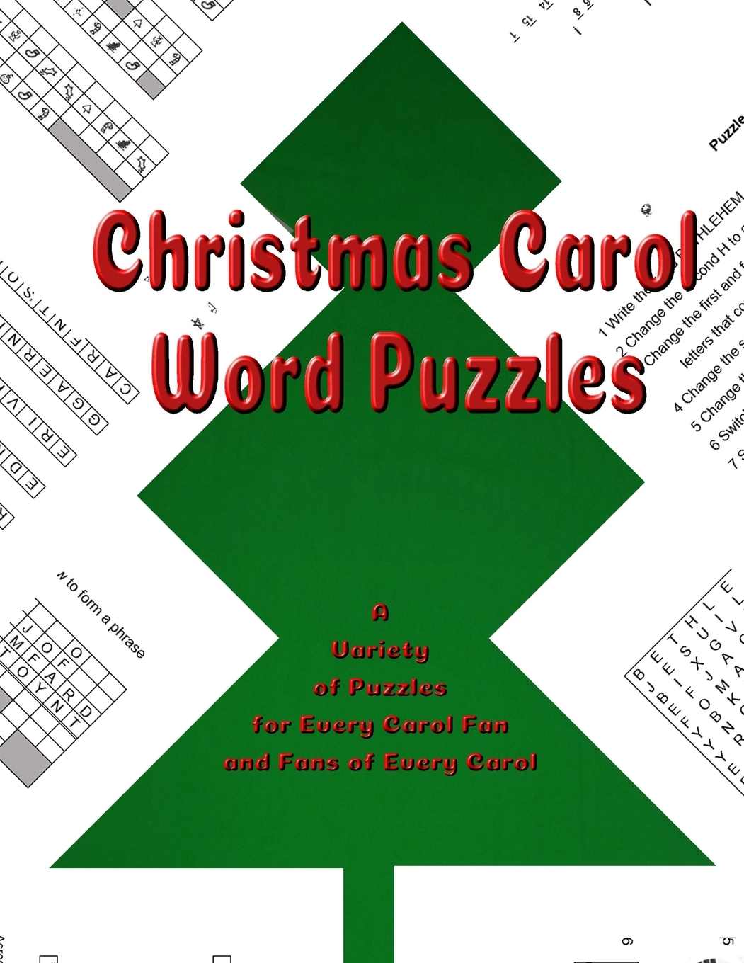 Christmas Carol Word Puzzles A Variety Of Puzzles For