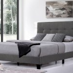 Segmart Modern Upholstered Platform Bed With Headboard Heavy Duty Full Size Bed Frame With Soild Wood Slat Support For Adults Teens Children No Box Spring Required Light Gray I9749 Walmart Com