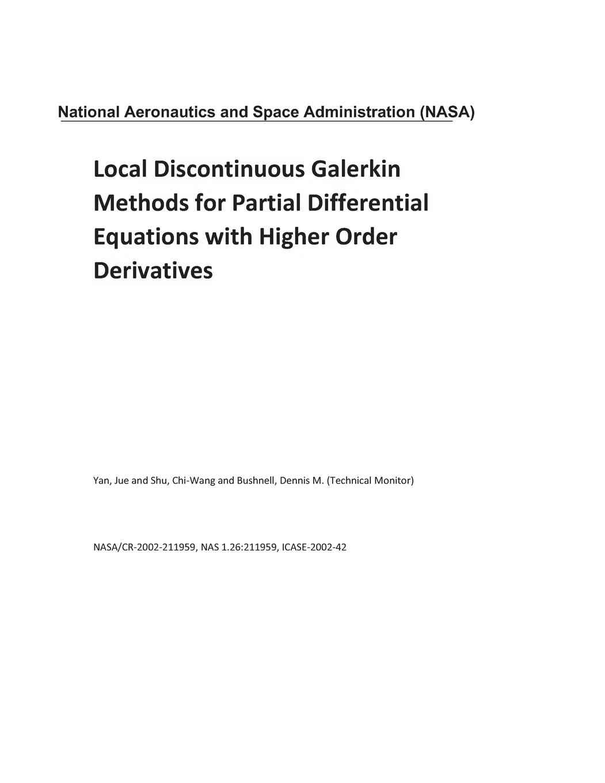Local Discontinuous Galerkin Methods For Partial