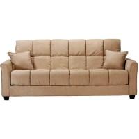 Baja Convert-A-Couch Futon Sofa Bed, Khaki - Walmart.com