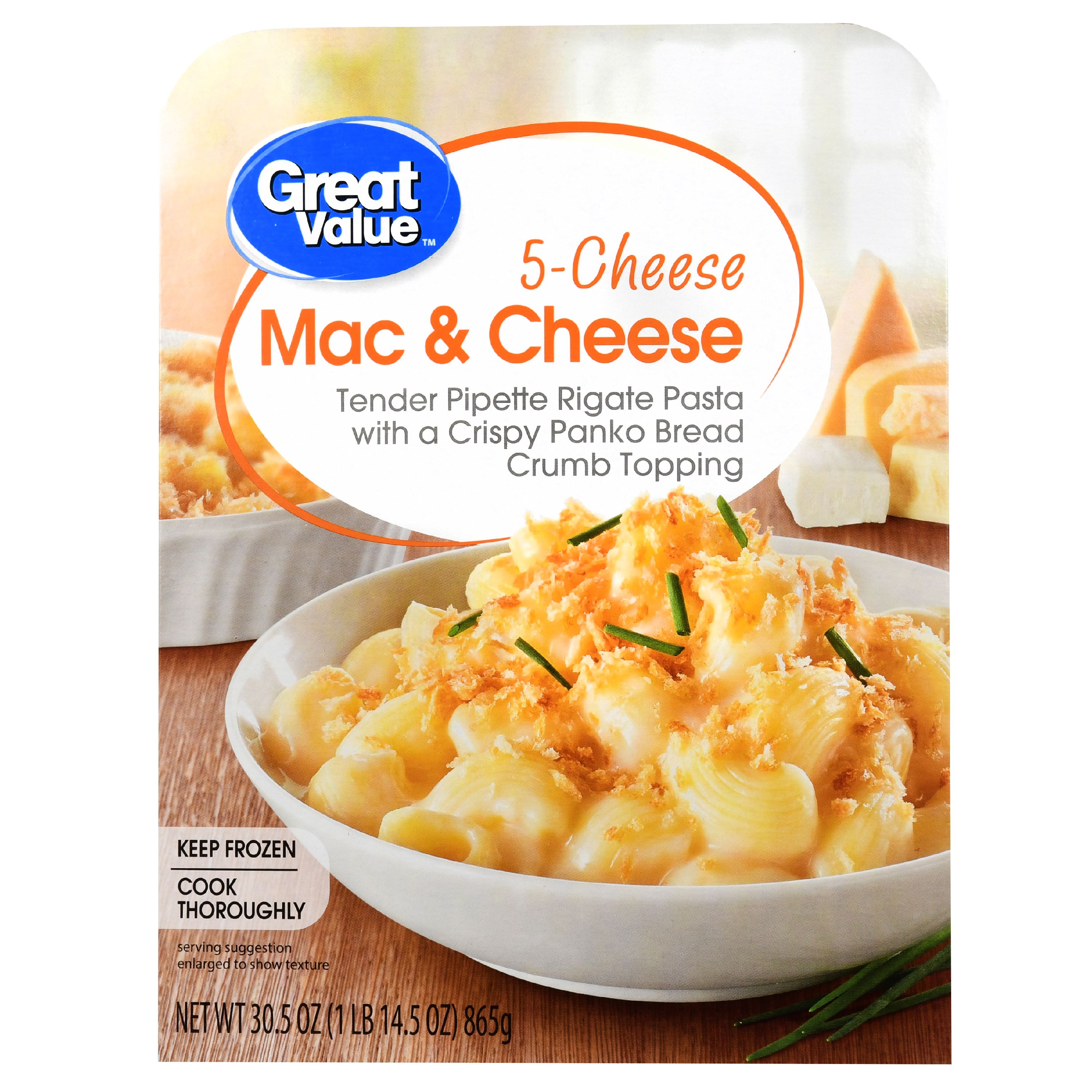 Great Value Frozen 5 Cheese Mac And Cheese 305 Oz