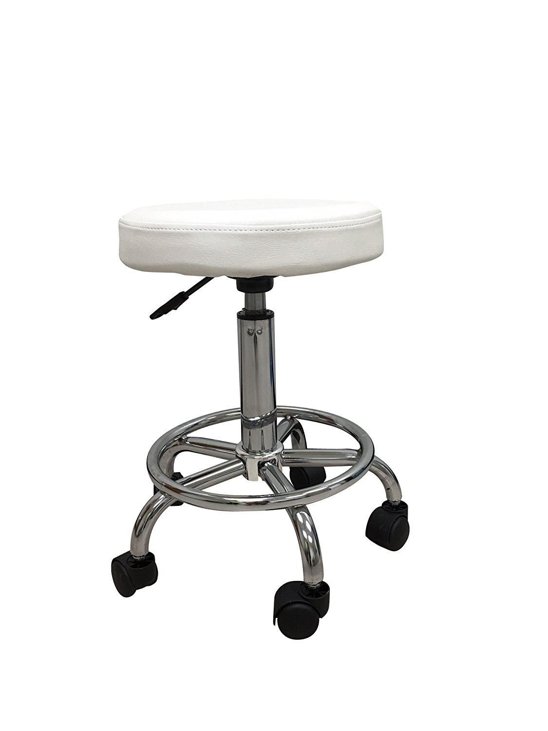 White Rolling Chair White Hydraulic Multi Purpose Adjustable Rolling Stool W