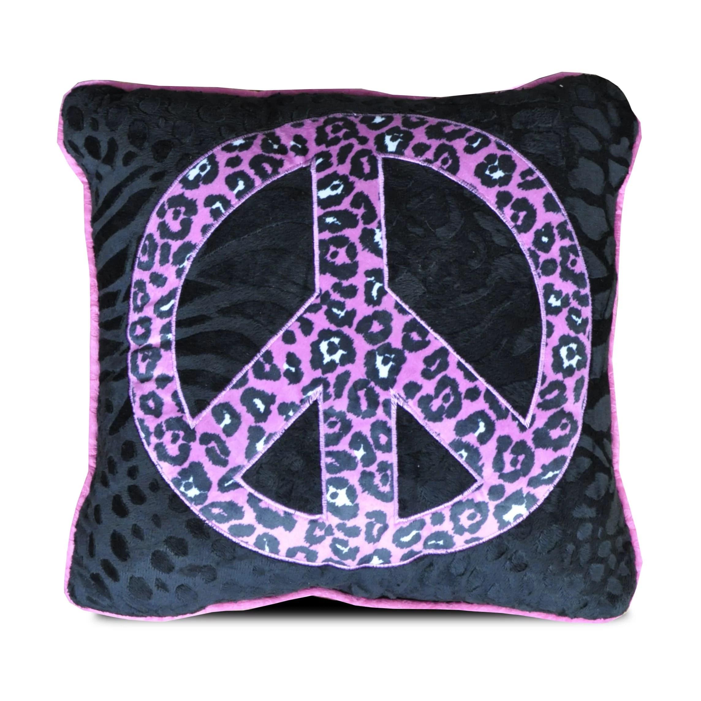 seventeen natalie peace sign throw pillow