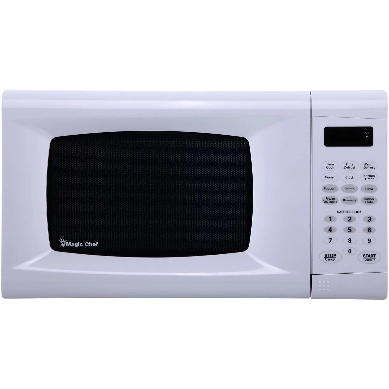 magic chef 0 9 cu ft 900w countertop microwave oven white walmart com