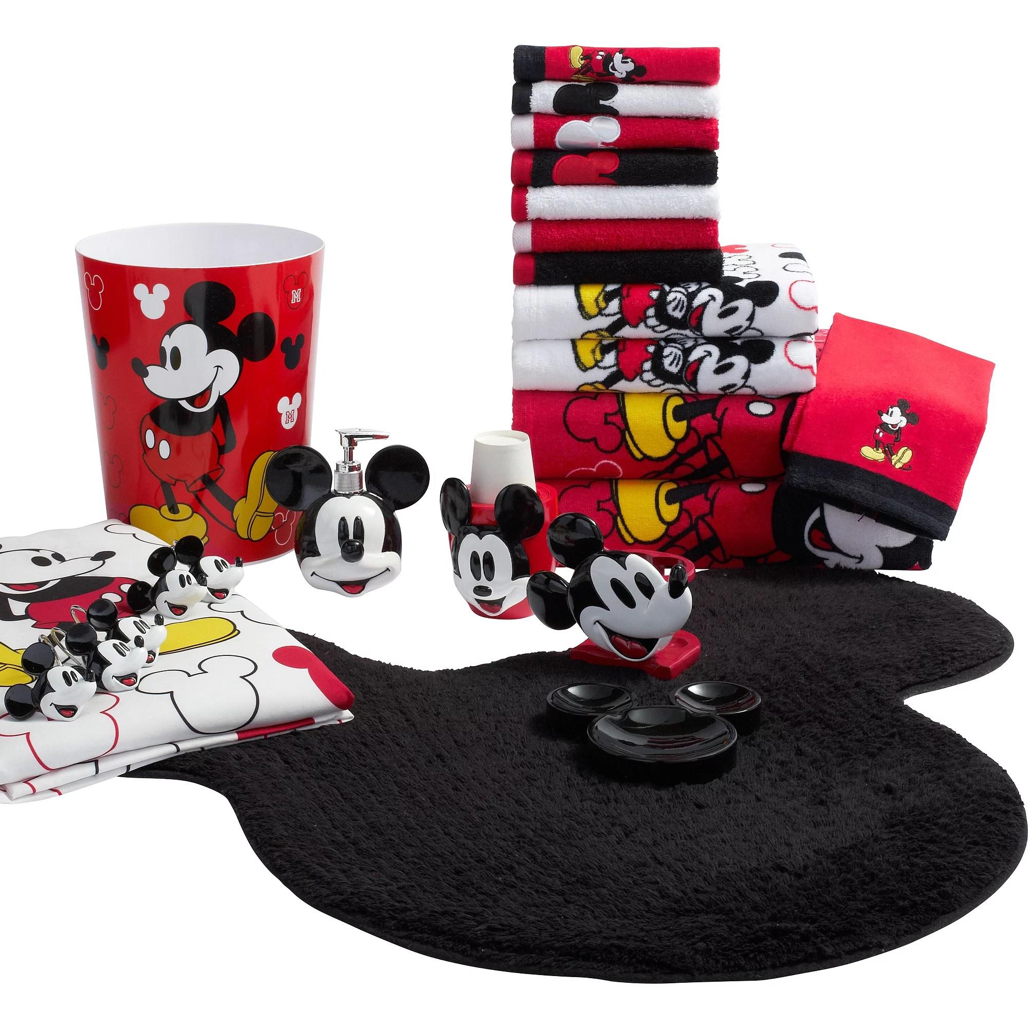 Disney Mickey Mouse Fabric Shower Curtain  Walmartcom