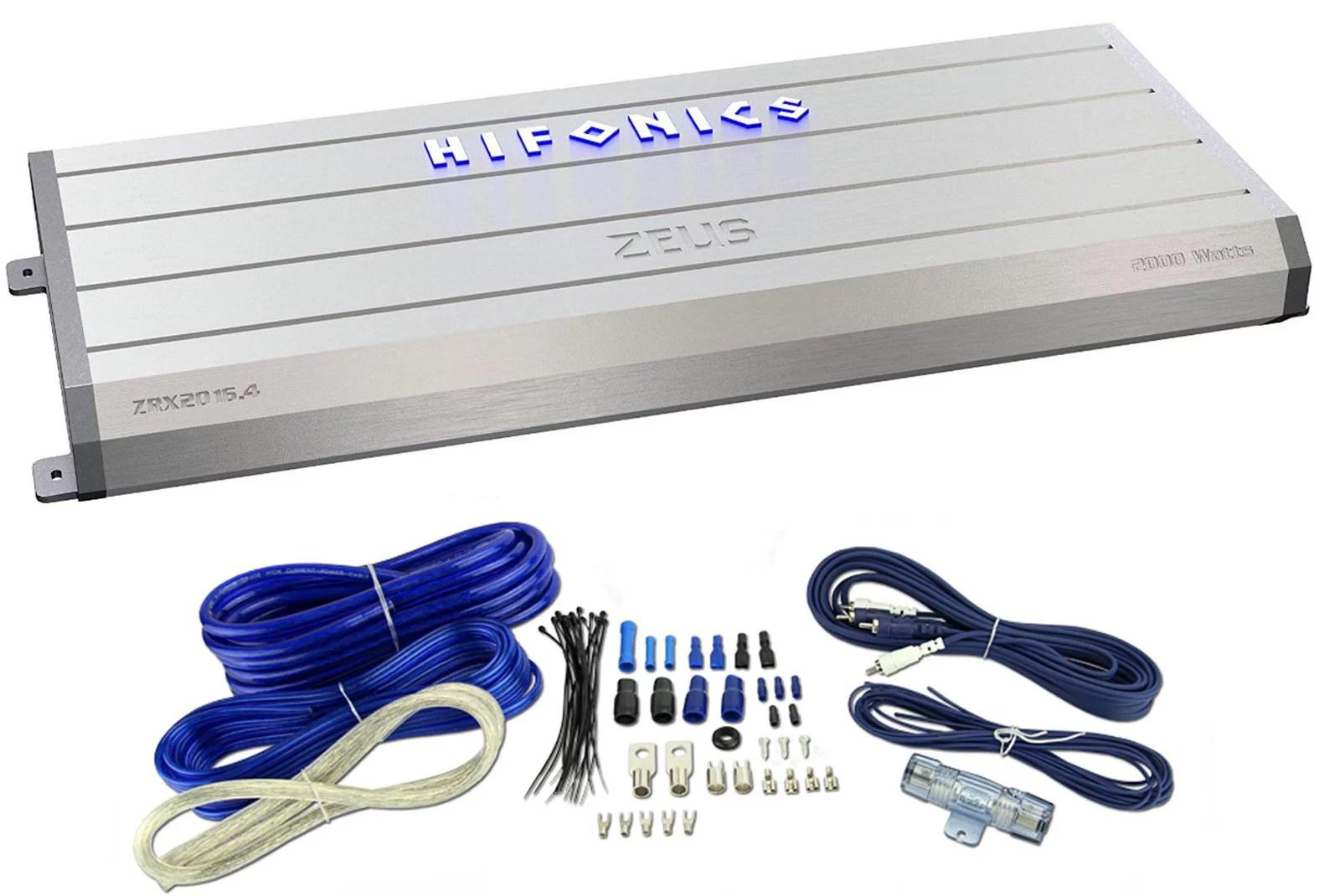 hight resolution of hifonics zrx2016 4 2000 watt rms 4 channel amp car amplifier wiring kit walmart com