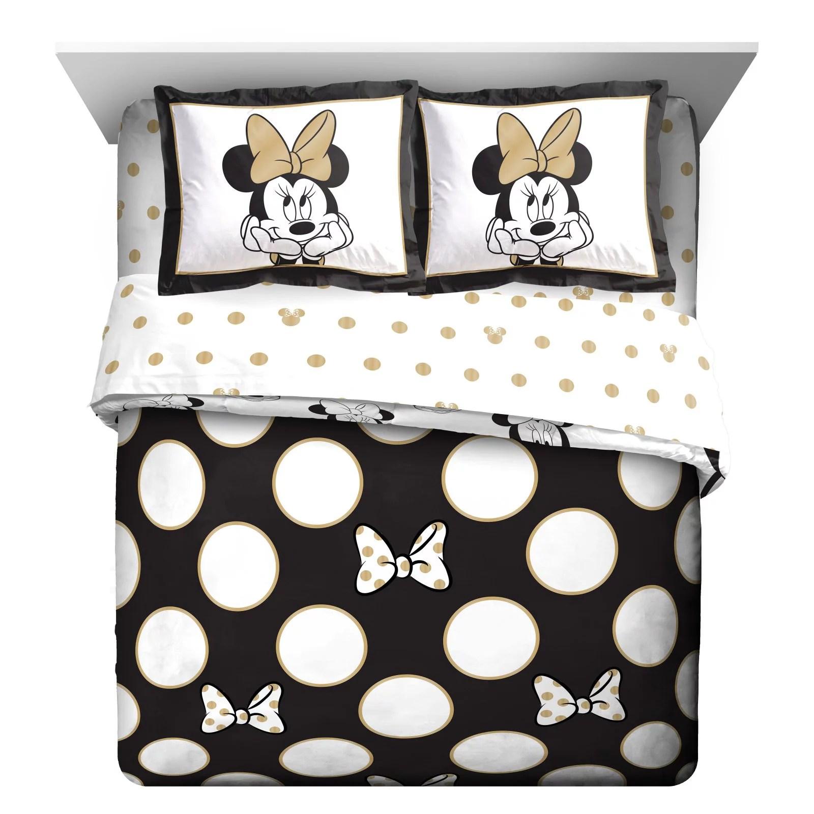 minnie mouse reversible full queen comforter set by disney walmart com