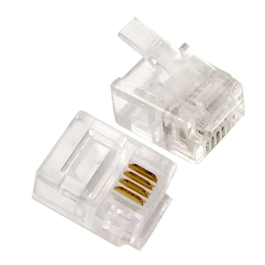 rj11 socket wiring diagram uk 1986 chevy c10 radio unique bargains 4 pcs pin 6p4c modular plug
