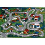 Details About Shag Area Rug For Children Play 19 X29 Road Driving Kids Street City Map Carpet