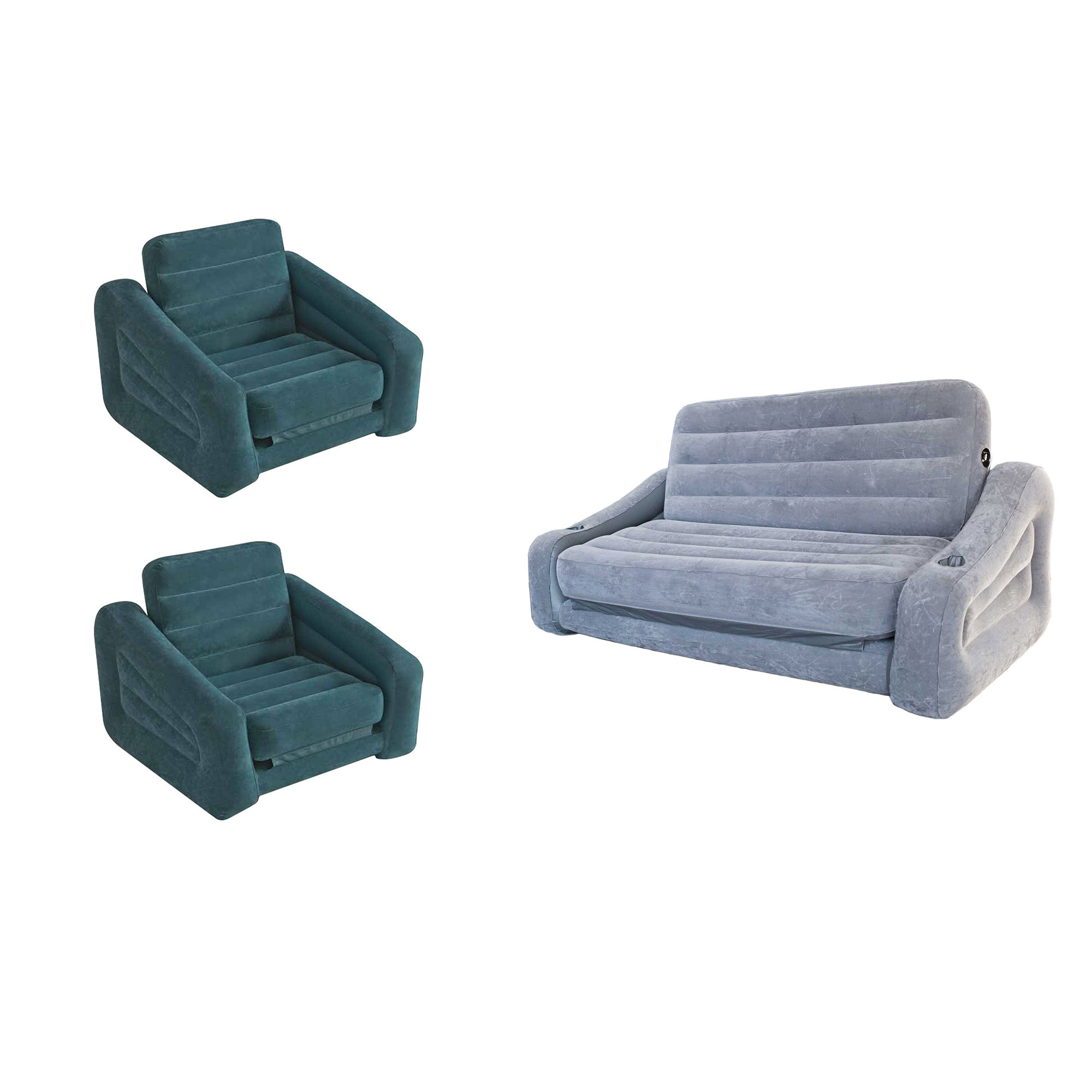 intex air chair eames dowel replica inflatable pull out sofa queen mattress bed sleeper 2 pack walmart com