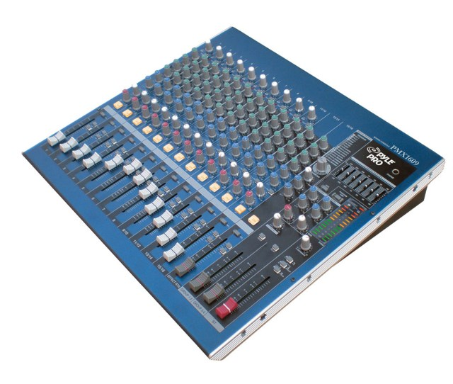 Pyle Pro Pmx1609 16 Channel Professional Dsp Console Stereo Mixer