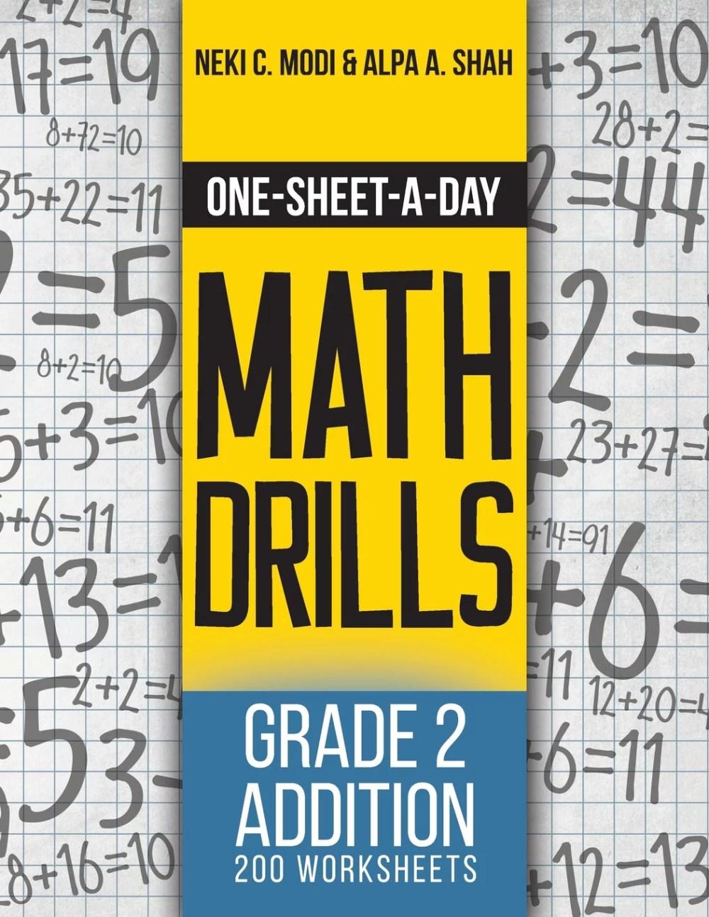 medium resolution of One-Sheet-A-Day Math Drills : Grade 2 Addition - 200 Worksheets (Book 3 of  24) - Walmart.com - Walmart.com