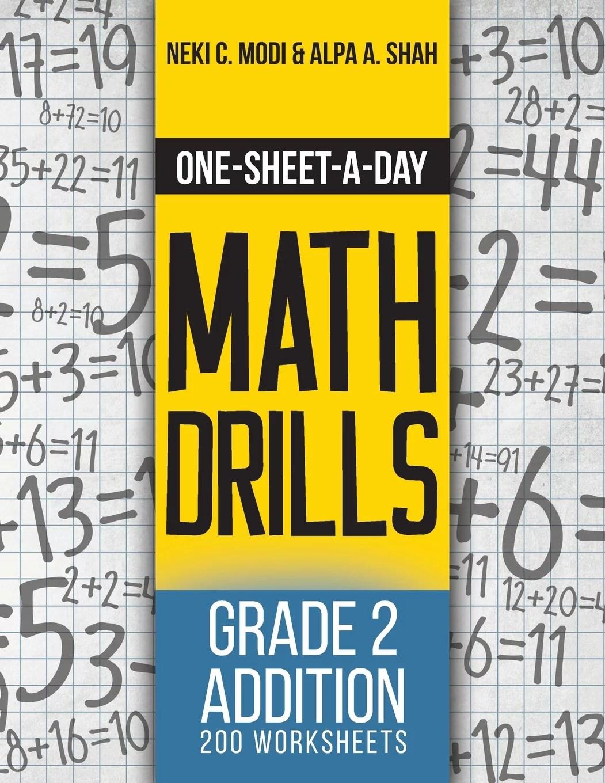 hight resolution of One-Sheet-A-Day Math Drills : Grade 2 Addition - 200 Worksheets (Book 3 of  24) - Walmart.com - Walmart.com