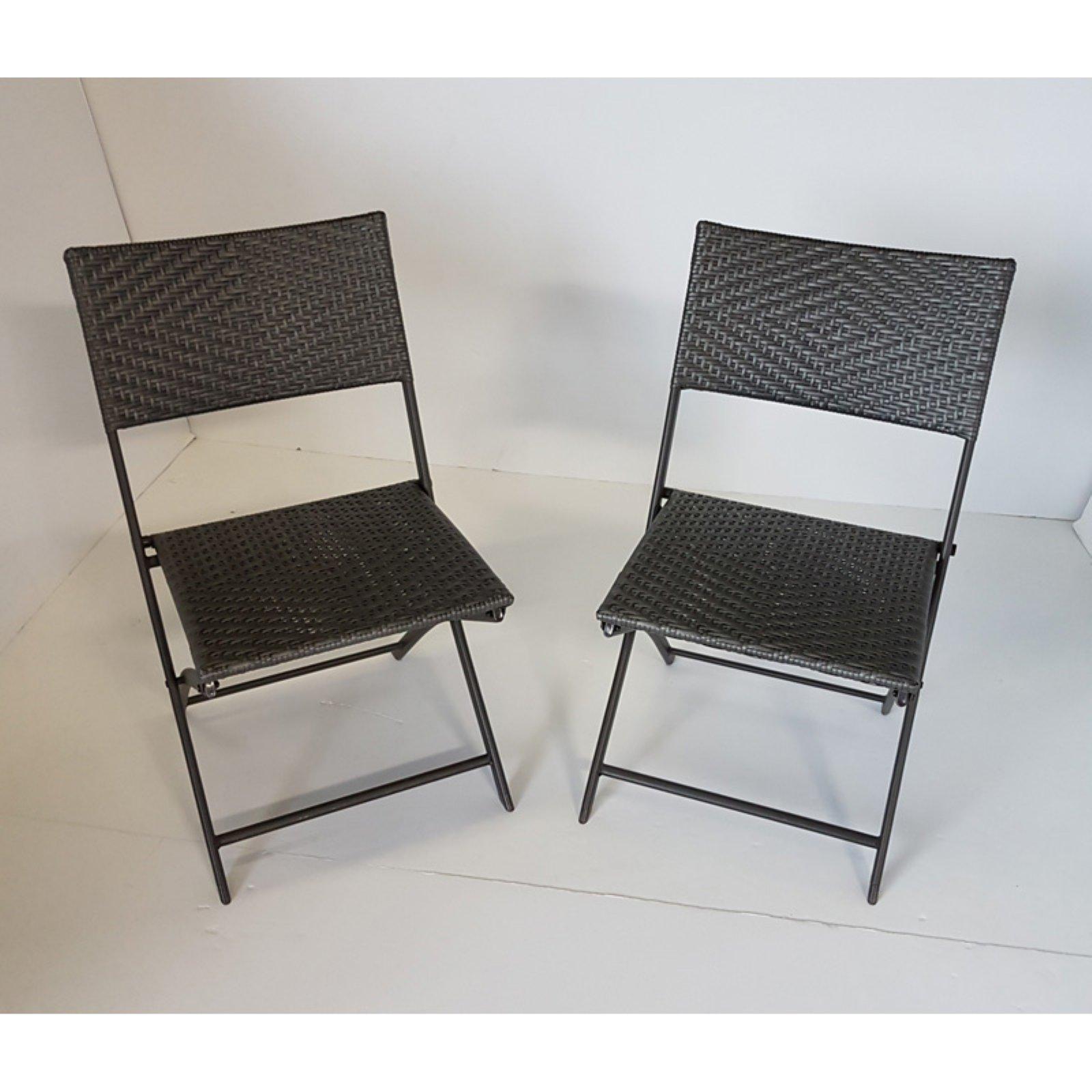 Foldable Patio Chairs Dura Housewares Marseille Rattan Folding Patio Chair Set Of 2
