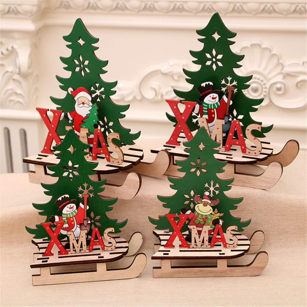 Gohope Christmas Puzzle Creative Painted Wooden Assembled Diy Sled Car Ornaments Christmas Decoration Kids Toys Gifts Santa Claus A Large Walmart Canada