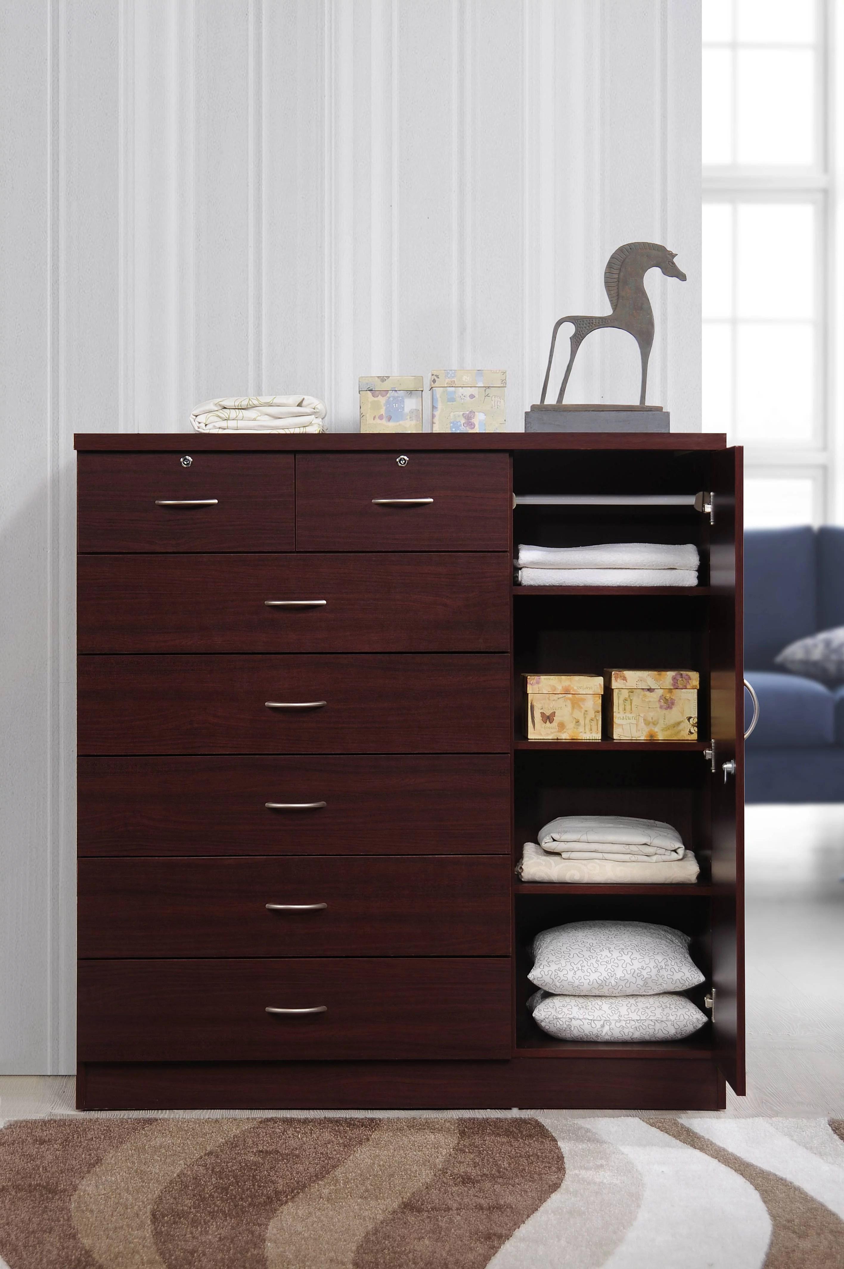 hodedah 7 drawer jumbo dresser multiple colors