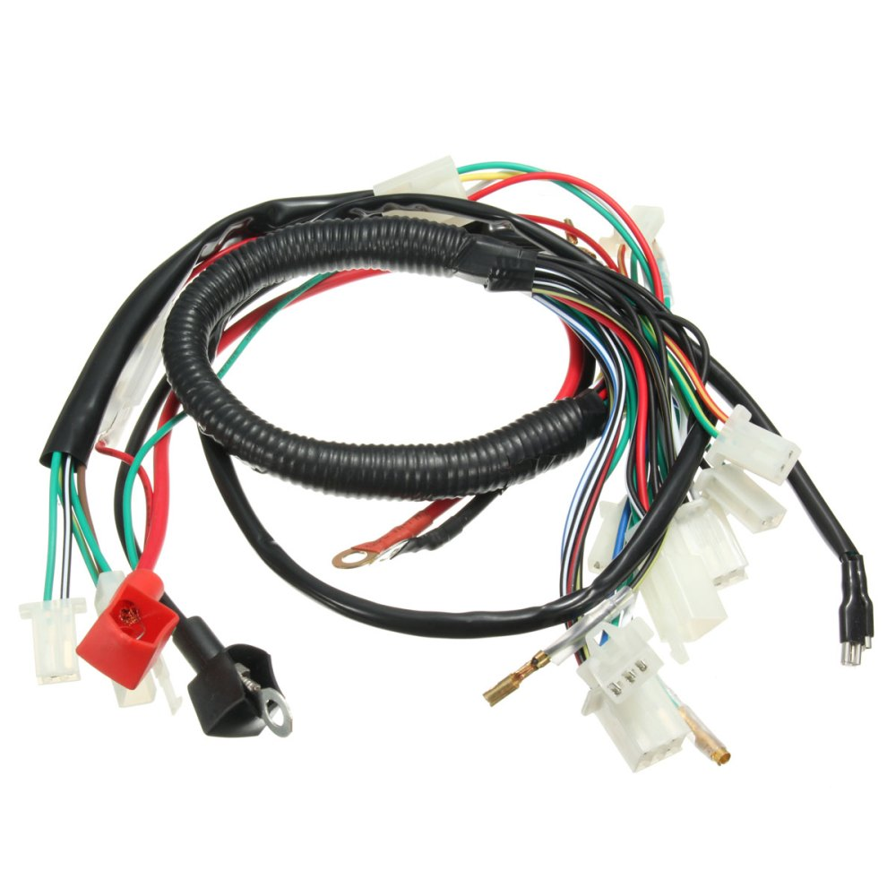 medium resolution of wiring harness loom for chinese electric start quads atv 50 70 90cc 110cc 125cc walmart com