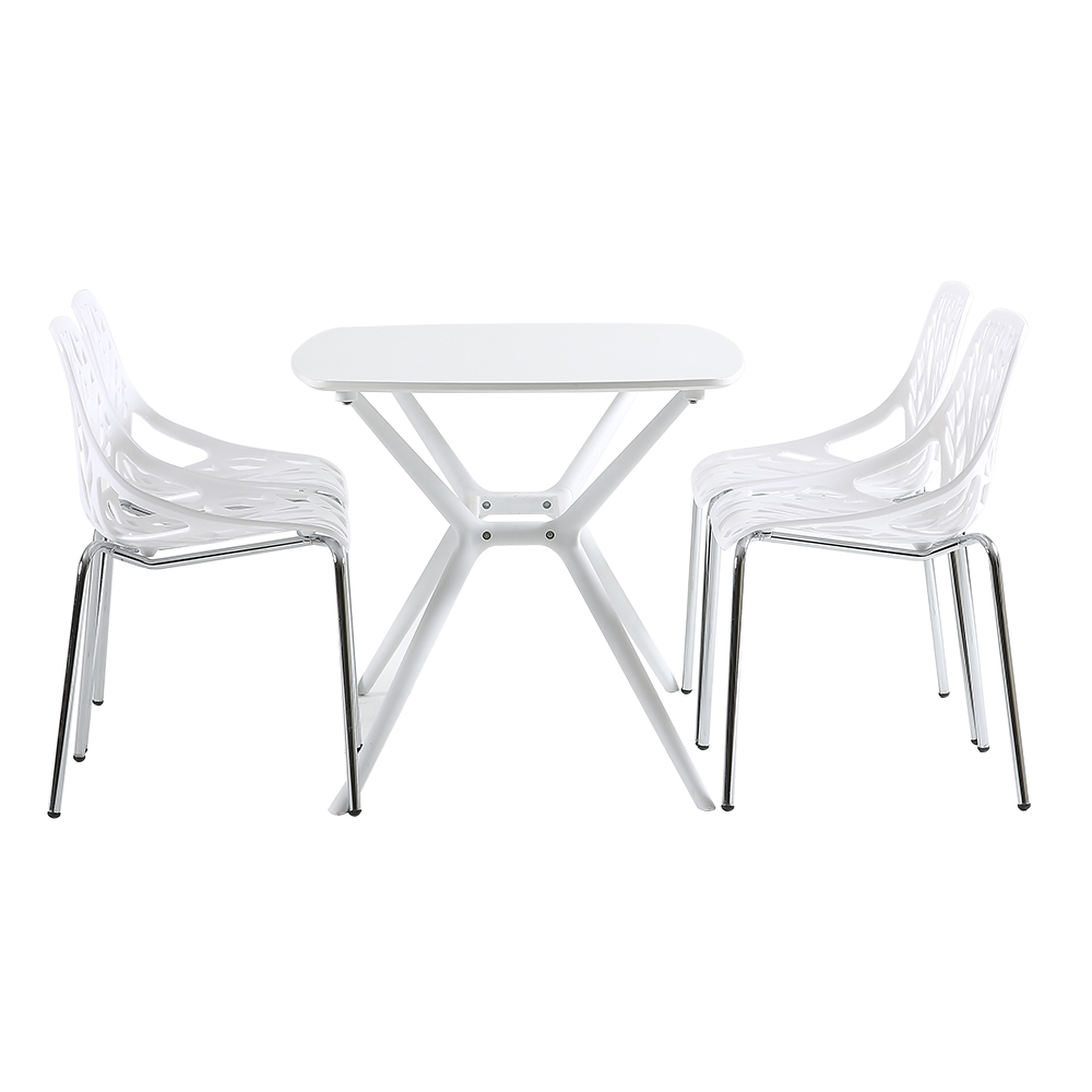 plastic patio chairs set of 4 for patio segmart 21 3 x 21 3 x 33 5 curved seat guest reception side chairs easy to assemble for home kitchen