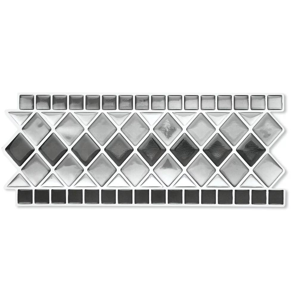 tile borders peel and stick backsplash removable backsplash for kitchen bathroom set of 8