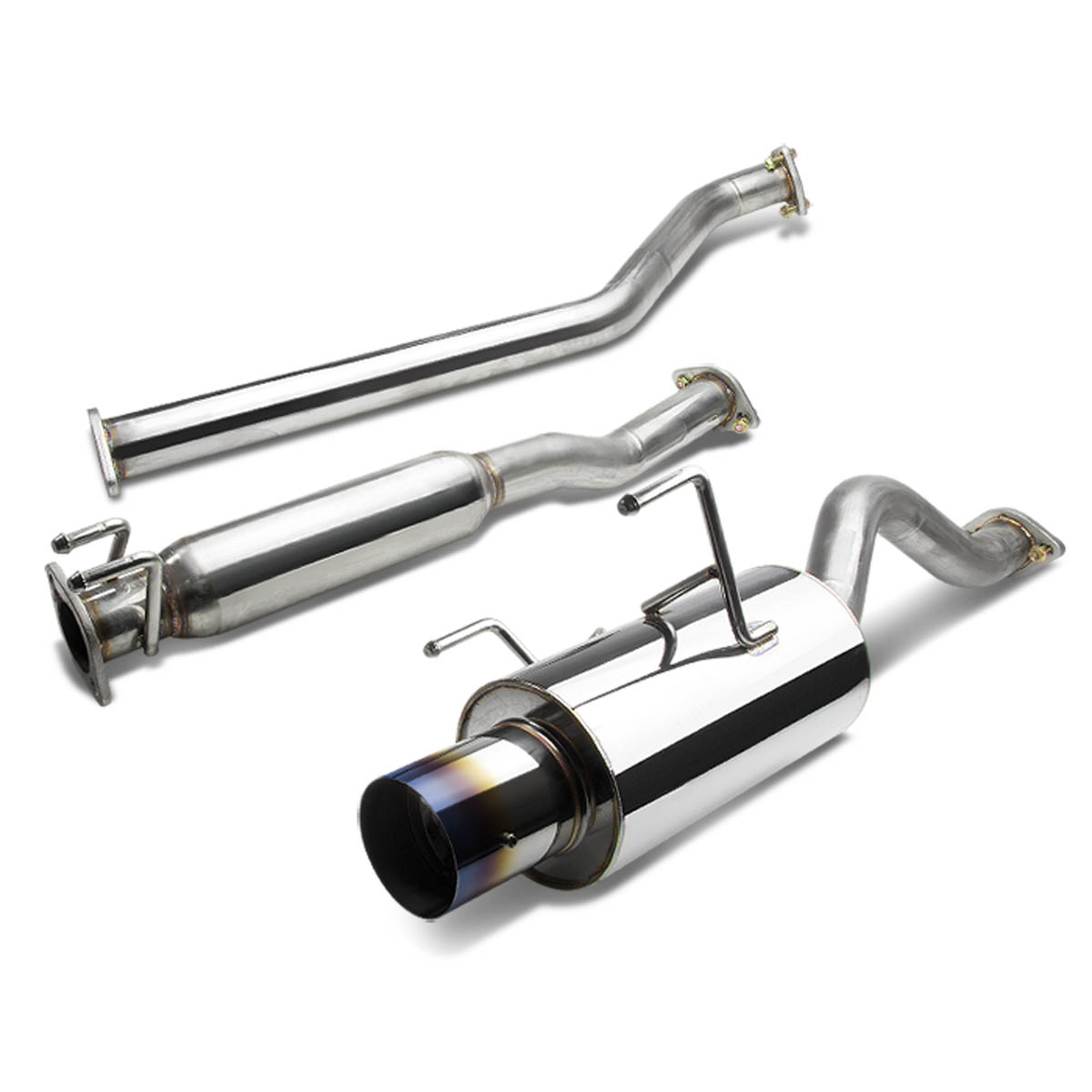 for 2002 to 2006 acura rsx catback exhaust system 4 burn tip muffler k20 type s dc5 03 04 05