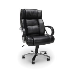 Feminine Executive Office Chairs White Outdoor Kmart Ofm Avenger Series Model 810 Lx Leather High Back Big And Tall Chair Black Walmart Com