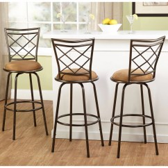 Chair Stools Height Office Gel Cushion Tms Avery Adjustable Bar Stool Multiple Colors Set Of 3 Walmart Com