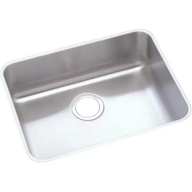 elkay kitchen sinks towel bars eluhad211545 18 gauge stainless steel 23 5 x 25 4 375 in single bowl undermount sink
