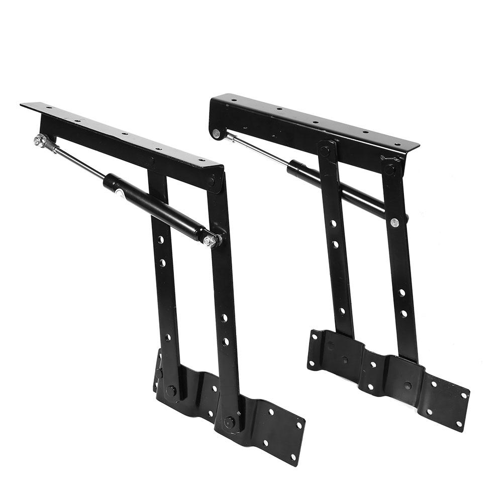 lhcer 2x practical lift up coffee table mechanism hardware top lifting frame furniture top lifting frame lift up hydraulic hinge walmart com