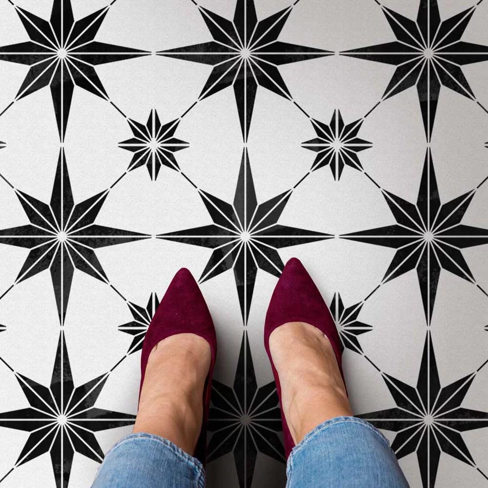 star tile stencil large size 12x12 tile
