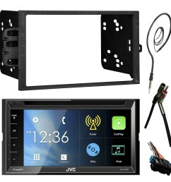 jvc kwv820bt 6 8 touch screen bluetooth cd dvd car stereo receiver bundle combo with metra dash installation trim kit wiring harness for gm vehicles  [ 1600 x 1600 Pixel ]